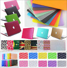 """Rubberized Hard Cases+Keyboard Cover for Macbook 12""""Pro13/15"""" Air 11""""inch"""