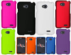 LG Ultimate 2 L41C Rubberized HARD Protector Case Snap Phone Cover +Screen Guard