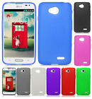 LG Ultimate 2 L41C TPU CANDY Gel Flexi Skin Phone Cover Frosted +Screen Guard