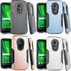 For LG Leon C40 IMPACT Hard Rubber Case Phone Cover Kickstand Accessory