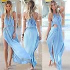 Fairy Sexy Women Long Maxi Boho Beach Prom Split Party Evening Dress Size XS S M