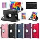 """Bluetooth Keyboard 360 Leather Case Cover For Samsung Galaxy Tab 4 7.0 7"""" Tablet"""