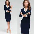 2015 Women Summer Sexy V-Neck Bodycon Slim fit Formal Party Sheath Pencial Dress