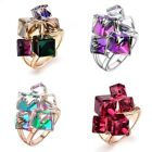 Fashion Fine Dices Crystals Ring 18K Gold Plated Womens Ladys R832R833