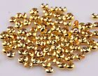 200Pcs Silver Gold Plated Crimp Beads Knot Covers Jewelry Making 3/4/5mm