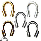 WIRE GUARDIAN PROTECTOR LOOPS CRIMP END CABLE THIMBLE 4x5mm CHOICE