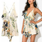 Women Sexy Deep V Neck Clubwear Playsuit Bodycon Party Jumpsuit & Romper Shorts
