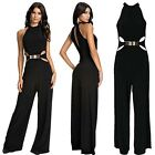 Womens Sleeveless Bodycon Dress Cocktail Wide Leg Jumpsuit Rompers Clubwear LJ