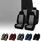 7 Piece Classic Cloth Auto Seat Covers for High Back Buckets & Solid Bench