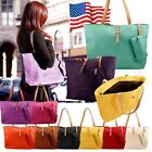 New Womens Faux Leather Fashion Messenger Handbag Lady Shoulder Bag Totes Purse image