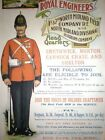 1890's Royal Engineers Recruitment  Poster A3 Print