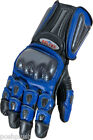 BLUE Leather Sportsbike Motorcycle Gloves for SUZUKI BMW Yamaha Riders RRP £120