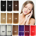 Quality Long real Natural Clip in Hair Extensions Heat Resistant Hairpieces 3I4