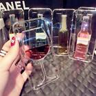 Classy 3D Moveable Liquid Red Wine Bottle Glass Case Cover Fr iPhone 5S/6/6 Plus