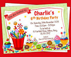 Personalised Birthday Party Invitations Invites Sweets Toffee Treats Theme