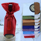 Free shipping! WHOLESALE MIX CHINA SILK FLOWER WINE BOTTLE COVER PARTY DECOR  -1