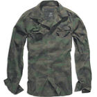 BRANDIT CASUAL MENS COTTON SHIRT MILITARY HUNTING LONG SLEEVE TOP WOODLAND CAMO