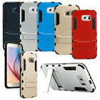 For Samsung Galaxy S6 Shockproof Stand Hybrid Aluminum Case Rugged Thin Cover