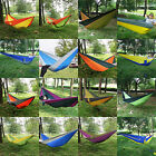 Double Person Nylon Fabric Hammock Parachute Sleep For Outdoor Travel Camping