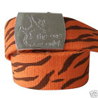 DISNEY WOMENS GIRLS WINNIE THE POOH TIGGER THE ONE AND ONLY CANVAS BELT