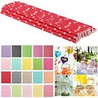 25Pcs Colorful Biodegradable Paper Drinking Straws Wedding Birthday Party Decor