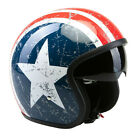 VIPER RS-V06 OPEN FACE SCOOTER MOTORCYCLE RETRO HELMET TEXAS  USA LONE STAR