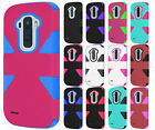 For LG G Stylo IMPACT TUFF HYBRID Case Skin Phone Cover Accessory+Screen Guard