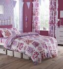 Owls Girls Duvet Quilt Cover Bed Bedding Set Single or Double or Curtains NEW