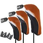 3PCs Golf Headcovers # 1, 3, 5 set For Taylormade Callaway Ping Hybrid Driver Wood