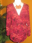 KATE HILL NWT $74 red pink melon women's shirt blouse
