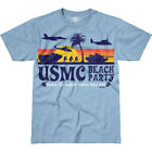 7.62 DESIGN USMC BEACH PARTY BATTLESPACE T-SHIRT MARINES NAVY MENS TOP SKY BLUE