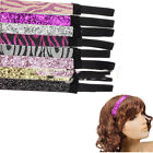 1Pcs New Light Color trend head band glitter ribbon Sports Headbands CA WB