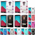 For LG G4 TUFF Hybrid Hard Soft Silicone Dual Layer Stand Case Skin Cover