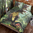 Jurassic T-Rex Dinosaur Tyrannosaurus Jungle Park World Duvet/Quilt Cover Set
