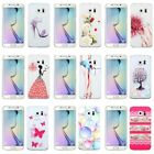 Fashion Pattern Clear Thin Hard Back Case For Samsung Galaxy S6 / S6 Edge