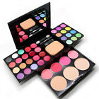 Pro Warm Colors Matte Shimmer Eyeshadow Palette Makeup Set & Brush Mirror New