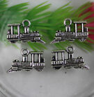 Lot 15/60/200pcs Retro Style Steam trains alloy Charms Pendants 19x12mm