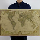Large Vintage Style Retro Paper Poster Globe Old World Map Gifts 72x47cm