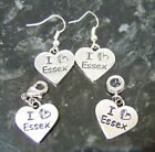 I Love Essex TOWIE Charm European, Clip On or Earrings