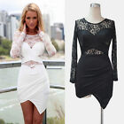 Women Clubwear Dress Tight Cocktail Petticoat Evening Party  Long Sleeve Dresses
