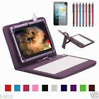"""Micro Keyboard Leather Case Cover+Gift For 7"""" Verizon Ellipsis 7 4G LTE Tablet"""