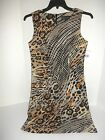 "NEW ""CONNECTED Apparel"" Designer Sleeveless Dress, Animal Print -Size 6 8 10"