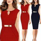 Fashion V Neck Sleeveless Dress Bodycon MIDI Sweetheart Cocktail Evening Party