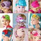 Baby Infant Toddler Bow Flower Peacock Feather Hair Band Headwear Headband LJ