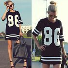 NO.86 Womens Summer Tee Shirts Top Dress Loose Sports Short Sleeve T-Shirt Tops
