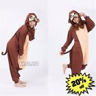 Hot Monkey Unisex Adult Pajamas Kigurumi Cosplay Costume Animal Onesie Sleepwear