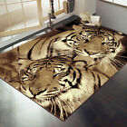 Flair Rugs Element Wildlife Tigers Rug, Brown
