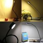 LED Flexible Reading Light Clip-on Bed Table Desk Lamp Warm / Day White