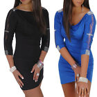 Sexy Women's Casual Bandage Bodycon Party Evening Cocktail Mini Pub Dress XS S M