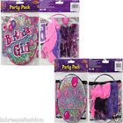 Girls Female Pink Balloons Birthday Party Pack with Balloons confetti and banner